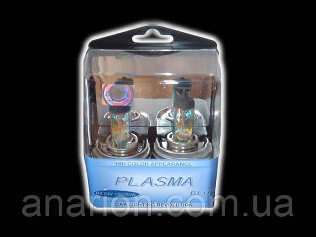 Лампа H4 24V 100/90W P45T Plazma Blue.