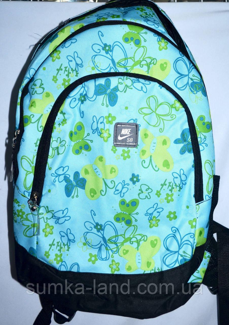 Спортивный бирюзовый рюкзак из текстиля 29*42 см