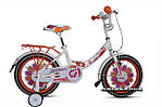 """Детский велосипед ARDIS LILLIES BMX 16""""  Белый/Оранжевый"""