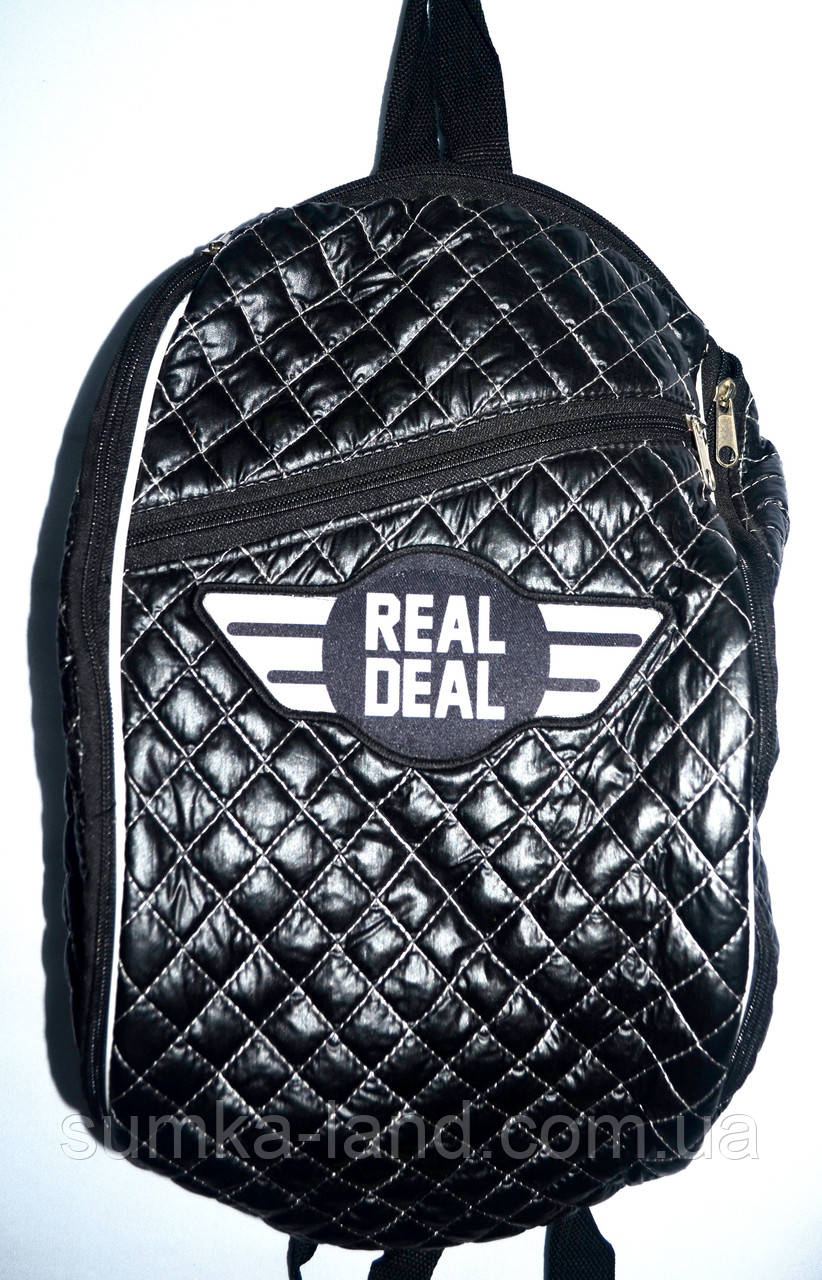 Спортивный стеганый рюкзак Real Deal 24*39 см