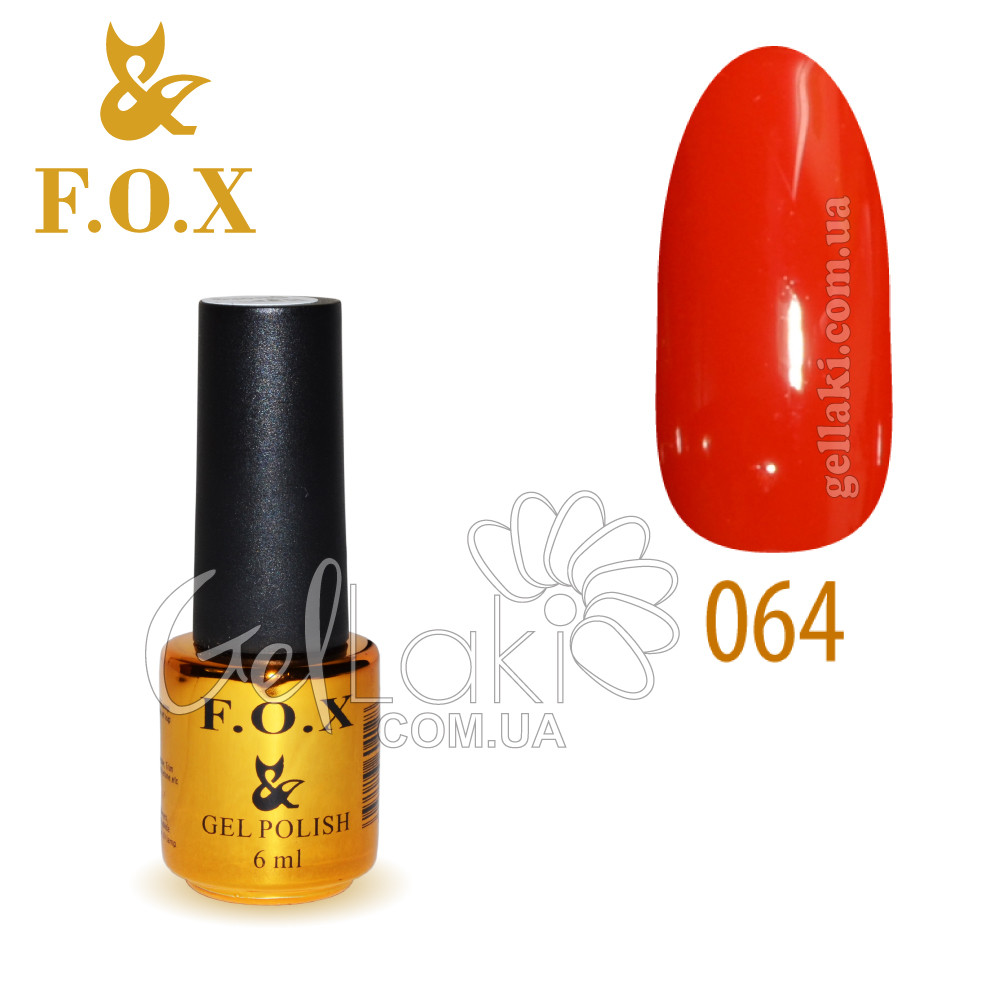 Гель-лак Fox №064, 6 мл (красный)