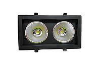 Светодиодный светильник 36Вт 4200K SC36WK BL 240x125мм черный, фото 1