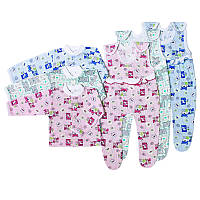 Комплект на новорожденого высокие ползунки кофточка в роддом хлопок 62 68