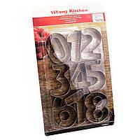 Вырубка для печенья металл Цифры 7,5 см