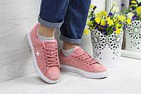 Женские кеды Converse All Star, розового цвета / кеды женские Конверс, замшевые, удобные, модные