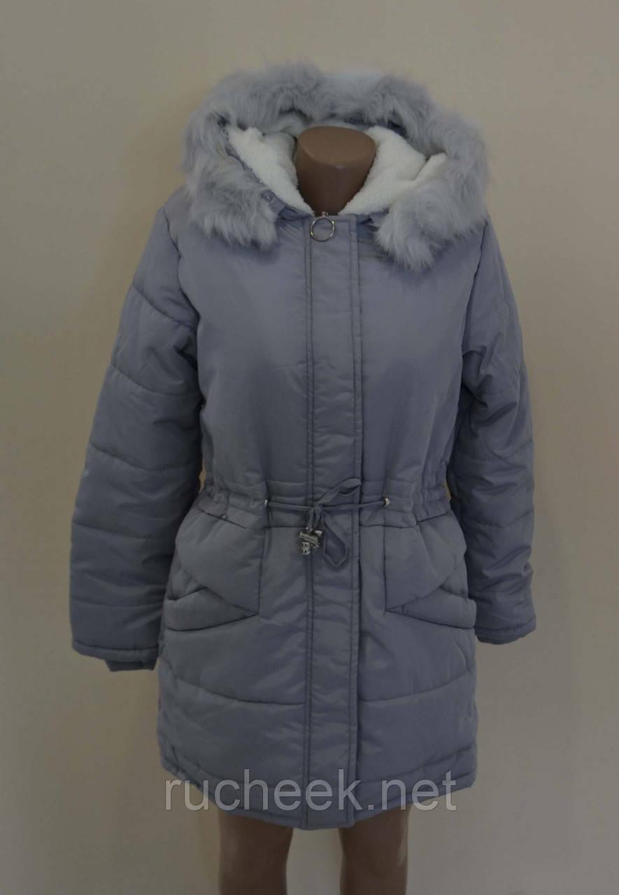 Детская зимняя куртка парка для девочек  р-ры 10, 12, 14, 16, ТМ Lemon