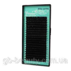 Черные ресницы серия Elit софт на ленте 0,2 C 8