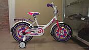 """Детский велосипед ARDIS LILLIES BMX 16""""  Белый/Фиолетовый"""