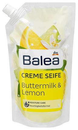 Жидкое мыло Balea с ароматом лимона и пахты запаска 500мл, фото 2