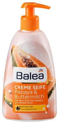 Жидкое мыло Balea с ароматом папайи и пахты с дозатором 500мл, фото 2