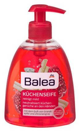 Жидкое мыло для рук Küchenseife лимонная трава и гранат 300мл, фото 2