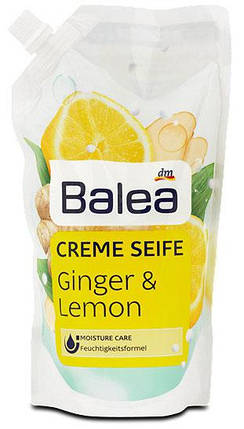 Жидкое мыло Balea с ароматом имбиря и лимона запаска 500мл, фото 2