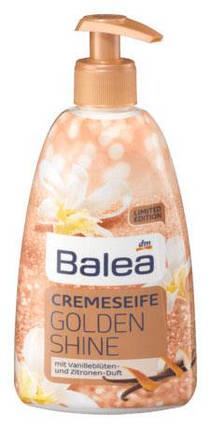 Жидкое мыло Balea Golden Shine с ароматом ванили и лимона дозатор 500мл, фото 2