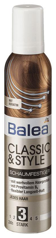 Пена для укладки волос Balea классическая 250мл