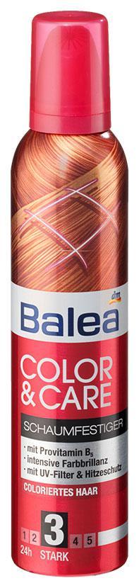 Пена для укладки волос Balea защита цвета окрашенных волос 250мл