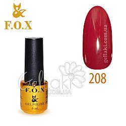 Гель-лак Fox №208, 6 мл (бордово-малиновый)