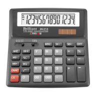 Настольный калькулятор brilliant bs-314 на 14 разрядов