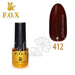 Гель-лак Fox №412, 6 мл (вишневый)