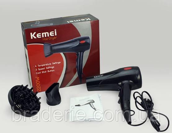 Фен Kemei DW-904, фото 2