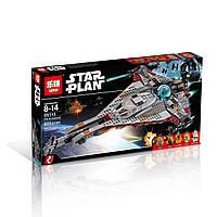 """Конструктор Lepin аналог LEGO Star Wars 75186 """"Космический корабльСтрела """" 800 дет."""