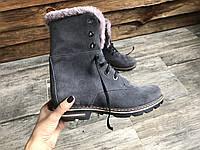 Ботинки №412-7 серая замша, фото 1