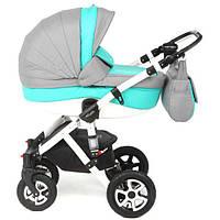 Детская универсальная коляска Adamex Barletta 50% (кожа) 367S (2 в1) купить оптом и в розницу в Одессе 7 км
