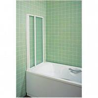 Душевая штора  для ванн VS2  - 105 профиль белый стекло GRAPE RAVAK