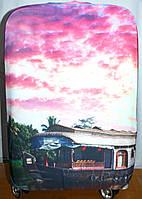 Чехлы для чемоданов из стрейчевые в 3 размерах (небо)