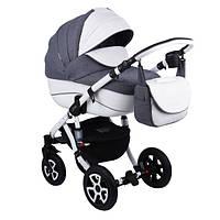 Детская универсальная коляска Adamex Barletta 50% (кожа) 365S (2 в1) купить оптом и в розницу в Одессе 7 км