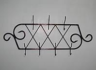 Вешалка кованая настенная 07 антик медь, фото 1