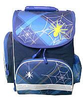 Ранец школьный 3601 паучёк синий