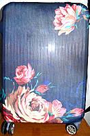 Чехлы для чемоданов из стрейчевые в 3 размерах (цветы)
