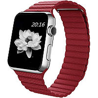 Ремінець для Apple iWatch 38mm Leather Loop Band ser. Red(993589)
