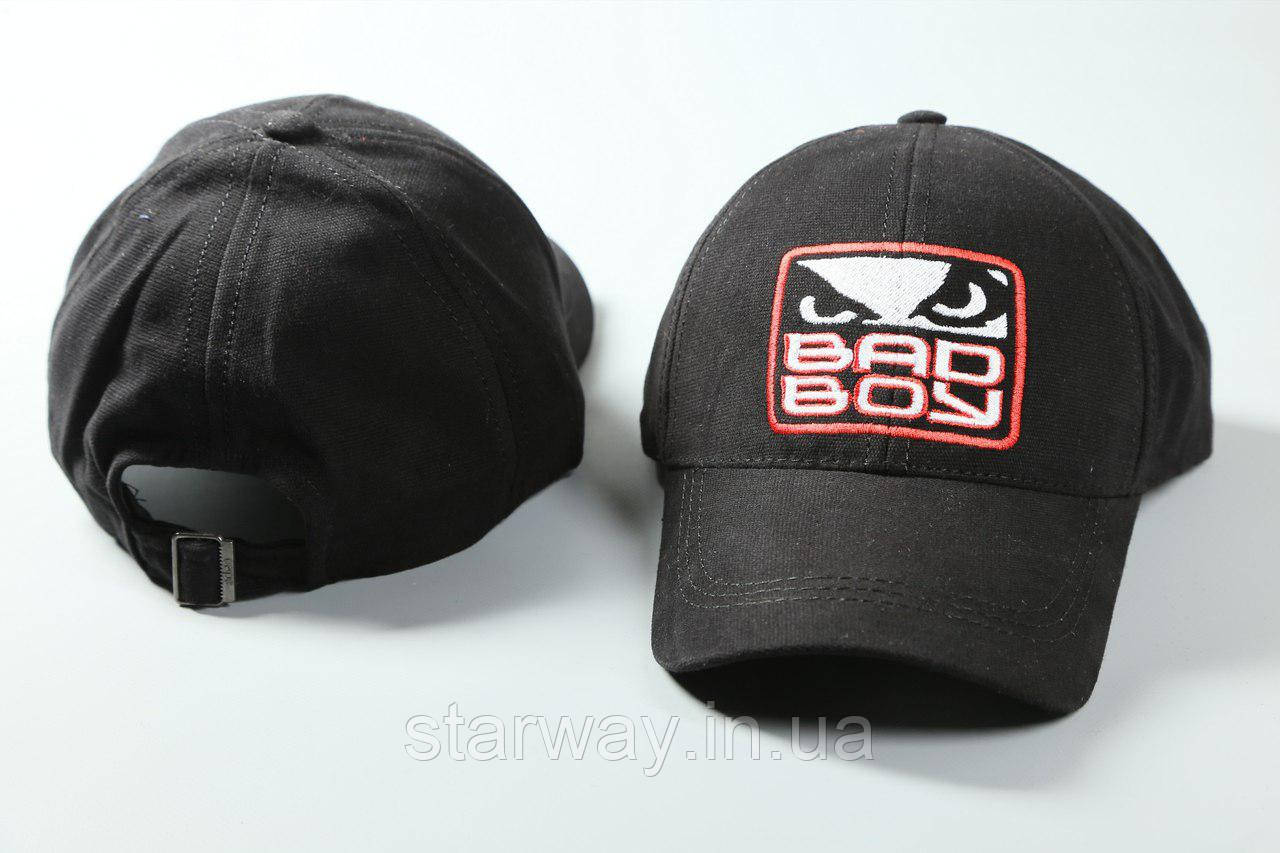 Кепка чёрная Bad Boy логотип вышивка