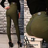 Джинсы Philipp Plein модные с завышенной талией и молнией сзади стрейчевый джинс 4 цвета Lmil68