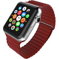 Ремінець для Apple iWatch 42mm Leather Loop Band ser. Red(993626)