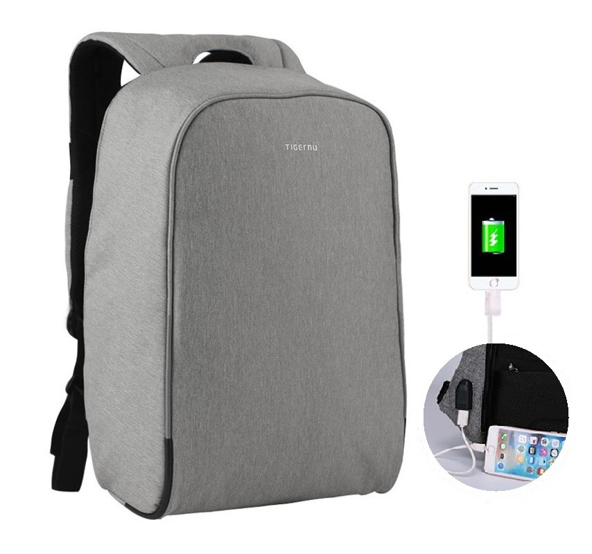 """Фирменный рюкзак для ноутбука 15,6"""" Тigernu T-B3213 серый"""