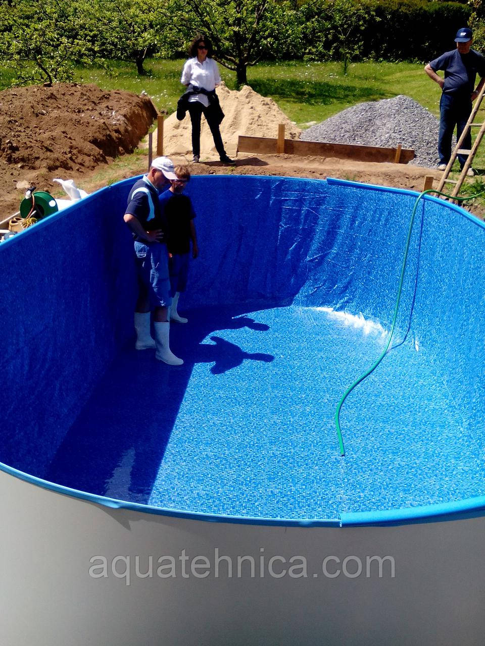 Плёнка под мозаику для сборного каркасного овального бассейна Ibiza, Mountfield, Hobby pool