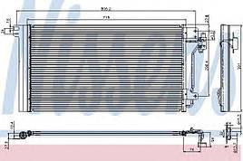 Конденсатор кондиционера VOLKSWAGEN T5 (7H, 7E) (03-) (пр-во Nissens)