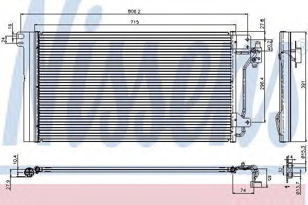 Конденсатор кондиционера VOLKSWAGEN T5 (7H, 7E) (03-) (пр-во Nissens), фото 2