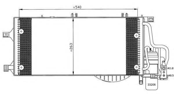 Радиатор кондиционера Opel Combo 01-, фото 2