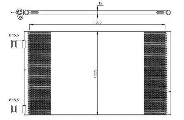 Радиатор кондиционера Renault Kangoo 1.5dCi 08-, фото 2