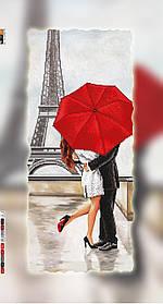 """Схема для вышивки бисером на подрамнике (холст) """"Влюбленные в Париже"""""""
