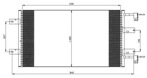 Радиатор кондиционера Renault Trafic/Opel Vivaro 2.0D/2.5D 01-