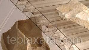 Сотовый поликарбонат POLYGAL Silhouette Gold (Израиль) 8 мм (золотой)