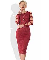 Платье трикотажное с оригинальными рукавами Д-516