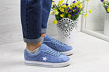 Женские кеды кроссовки Converse All Star голубые 40р, фото 2