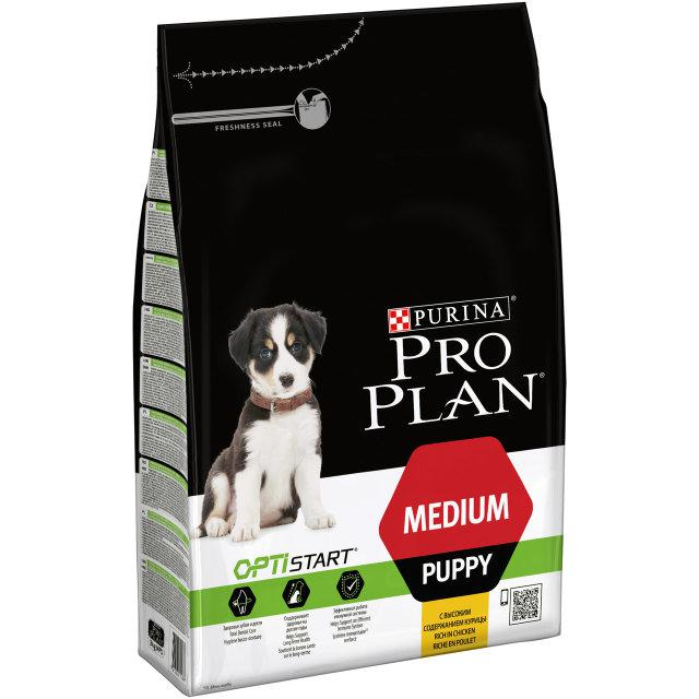 Purina Pro Plan Puppy MEDIUM Optistart 3кг-для щенков средних пород с курицей