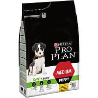 Purina Pro Plan Puppy MEDIUM Optistart 3кг-для щенков средних пород с курицей, фото 1