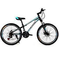 Велосипед Cross Racer 24 дюйма голубой